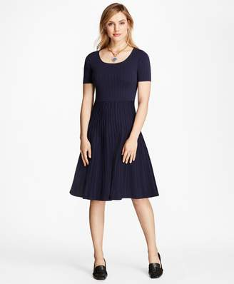 Brooks Brothers Jacquard Knit Dress