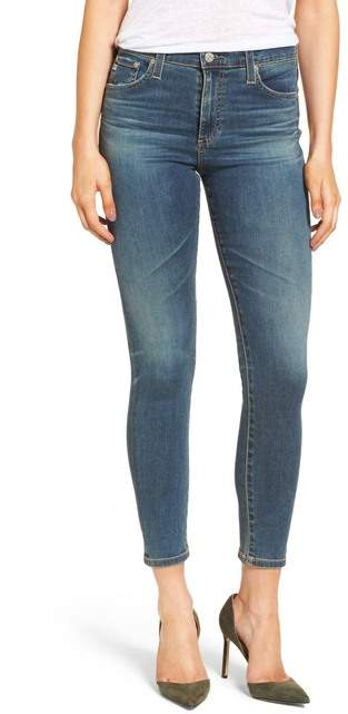 AG The Farrah High Waist Ankle Skinny Jeans (8 Years Blue Lament)