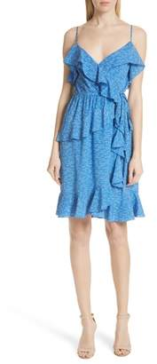 Derek Lam 10 Crosby Dash Stripe Ruffle Silk Sundress