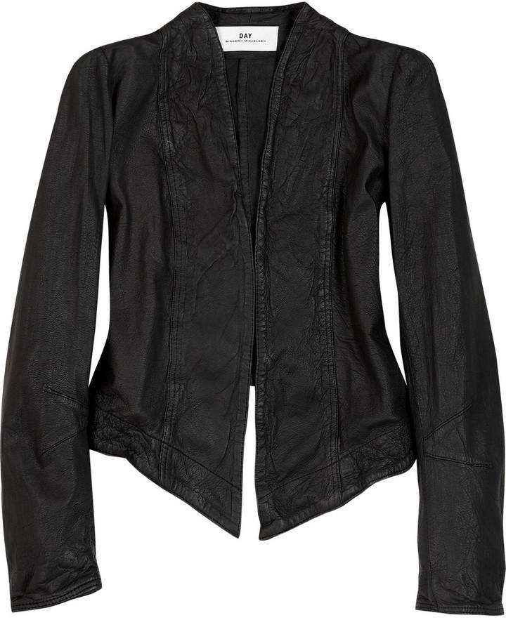 DAY Birger et Mikkelsen Cropped leather jacket