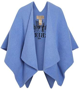 Burberry Embroidered Skyline Poncho