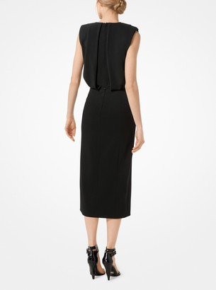 Michael Kors Stretch Pebble-Crepe Sheath Dress