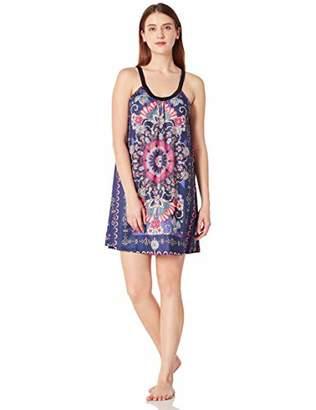 Selene Women's Sleeveless V-Neck Pajama Dress Lightweight Nightgown XL