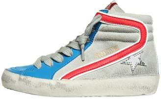Golden Goose Slide Patent & Suede High Top Sneakers