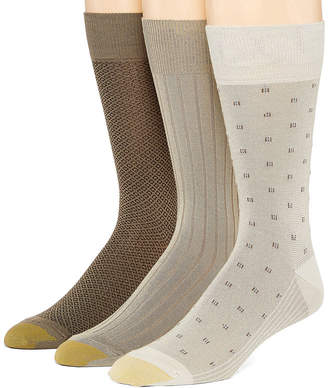 Gold Toe 3 Pair Crew Socks-Mens