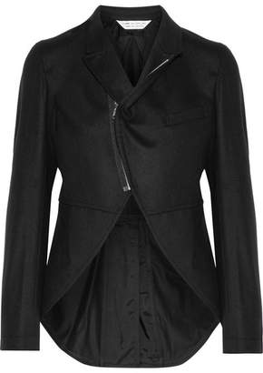 Asymmetric Wool-felt Jacket - Black