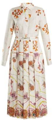 Gabriela Hearst Rosa Spread Collar Psychedelic Print Silk Dress - Womens - Multi