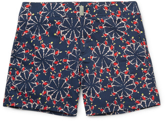 Merise Mid-Length Printed Swim Shorts $280 thestylecure.com