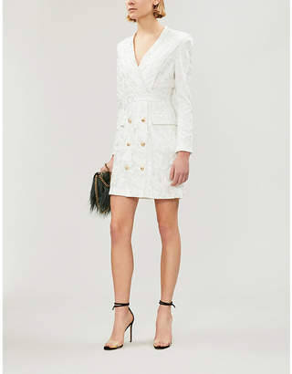 Forever Unique Brocade woven blazer dress