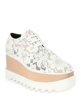 Stella McCartney Elysse Lace Platform Wedge Sneaker