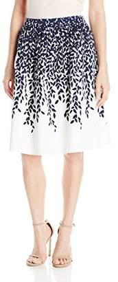 Lark & Ro Women's Gathered-Waist Skirt