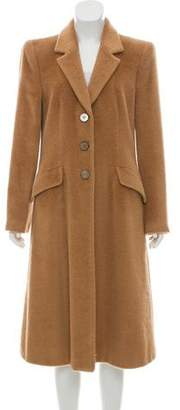 Giorgio Armani Notch-Lapel Alpaca Coat