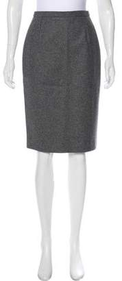 Celine Wool & Cashmere Pencil Skirt
