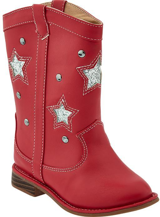 Old Navy Embellished Western Boots for Baby