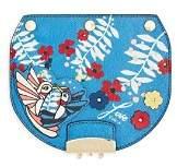 Furla MY PLAY Interchangeable Metropolis Mini Mayday Hummingbird Print Leather Flap