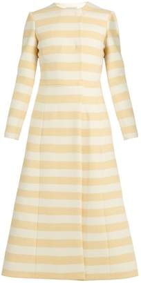 Emilia Wickstead Dominique striped wool-blend coat