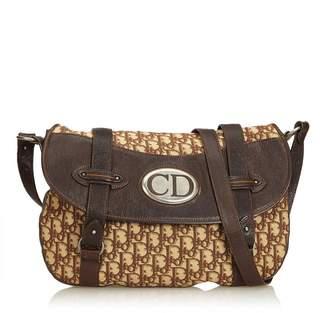 Christian Dior Vintage Oblique Jacquard Traveler Crossbody Bag