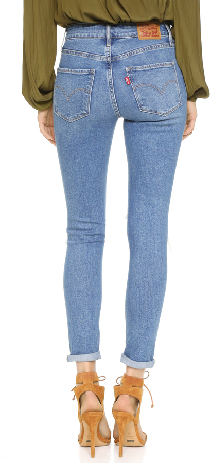 Levi's 721 High Rise Distressed Skinny Jeans 5