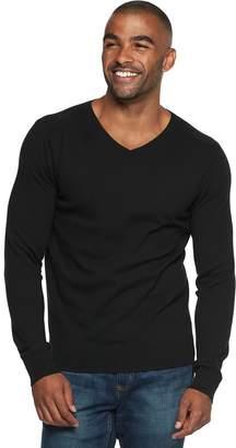 Marc Anthony Men's Slim-Fit Tuck-Stitch V-Neck Sweater