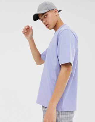 Asos loose fit heavyweight t-shirt in lilac