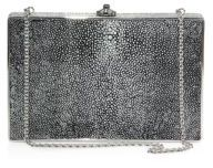 Judith Leiber Ridged Stingray Box Bag $1,695 thestylecure.com