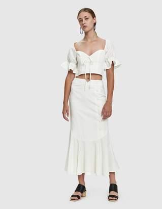 Farrow Bauer Linen Maxi Skirt