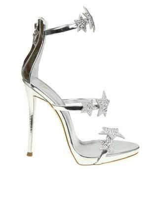Giuseppe Zanotti harmony Star Sandal In Silver Mirror Patent