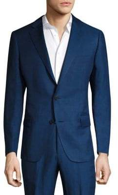 Saks Fifth Avenue COLLECTION BY SAMUELSOHN Classic-Fit Silk-Blend Double Button Jacket