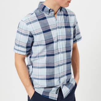 Gant Men's Blue Pack Madras Short Sleeve Shirt