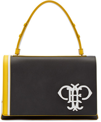 Emilio Pucci Black Leather Large Satchel $1,820 thestylecure.com