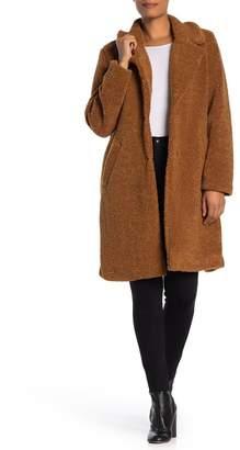 Lucky Brand Missy Long Faux Shearling Teddy Coat