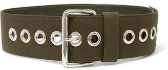Miu Miu Canvas And Leather Waist Belt - Army green