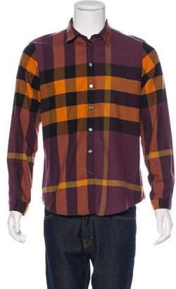 Burberry Exploded Check Button-Up Top