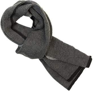 40 Colori - Charcoal Three Designs Wool Scarf
