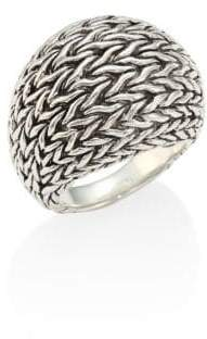 John Hardy Classic Chain Sterling Silver Dome Ring