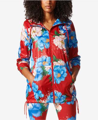 adidas Originals Floral-Print Windbreaker $85 thestylecure.com