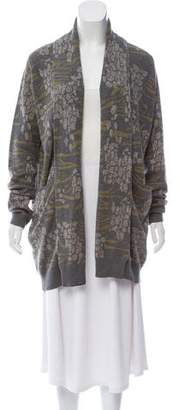 Matthew Williamson Animal Print Metallic Cardigan