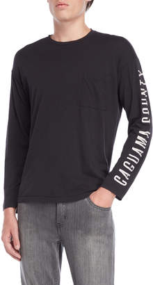 Willy Chavarria Pirate Black Long Sleeve Tee
