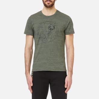 Versace Men's Round Logo Marl T-Shirt