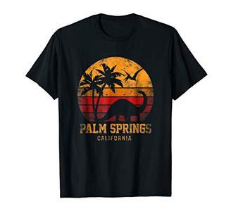 Palm Springs Vintage Sunset Dinosaurs Funny T-Shirt