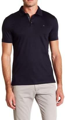 Calvin Klein Short Sleeve Solid Woven Polo