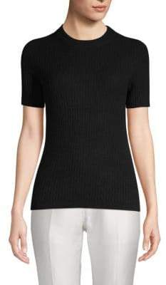 Saks Fifth Avenue Ribbed Cashmere Tee