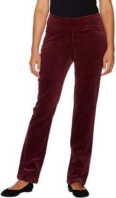 Denim & Co. Tall Smooth Waist Stretch Corduroy Pull-on Pants