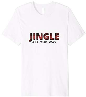 Buffalo David Bitton Jingle All The Way Red Plaid T-Shirt for Him or Her
