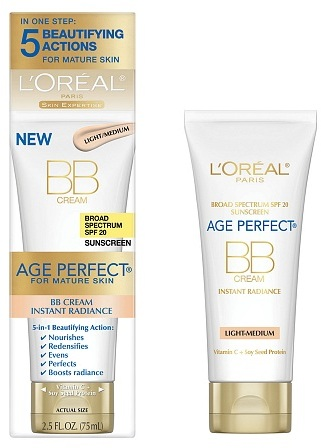 L'Oreal Age Perfect Mature Skin Instant Radiance BB Cream Light-Medium
