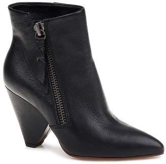 Splendid Women's Neva Pointed Toe Leather Mid-Heel Booties