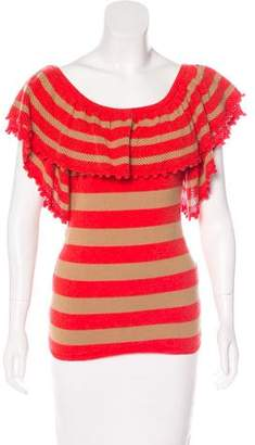 LaROK Striped Knit Top