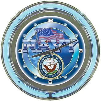 "Trademark Art United States Navy 14"" Neon Clock"