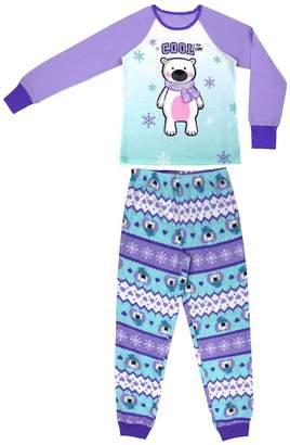 Original Penguin Girls 4-16 Jellifish 2-pc. Graphic Pajama Set