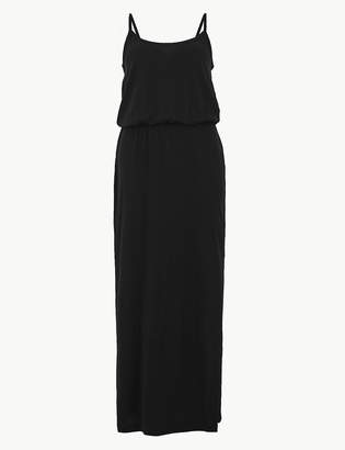 Marks and Spencer PETITE Pure Cotton Waisted Maxi Dress
